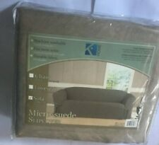 """NEW Kashi Home Sofa Micro-suede Slipcover - 74"""" to 96"""" NEW NWT"""