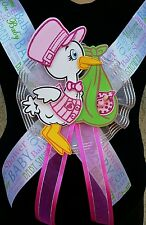 Stork Baby Shower MOM TO BE SASH,Pink/Girl,ibbon favors,Party,Mother,Gift,safari