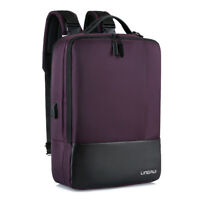 "Anti-theft Men Women 15.6"" Laptop Backpack Handbag School Travel Bag USB Port"