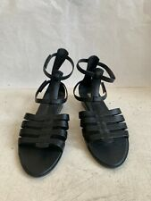 melissa jelly rubber shoes gladiator style black sz 40 wedge heel sandals
