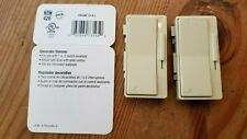 Lot of (2) Cooper Decorator Dimmer Accessory Wall Color Change Plates-Ivory