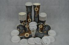 Set 100 Kaffeebecher + 100 Deckel 0,3L Bohne Coffee to Go Becher Pappbecher