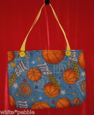 Handmade purse/bag/tote - Fleece - Basketball - Large