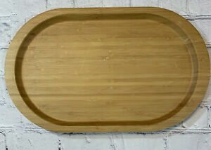 """Pampered Chef Wood Oval Bamboo Serving Board Light Finish 9 X15"""" Retired"""