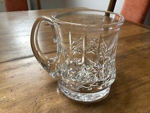 SIGNED EDINBURGH CRYSTAL GLASS TANKARD - HIGHLAND CUT? - EXCELLENT