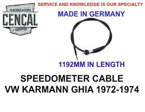 SPEEDOMETER CABLE VOLKSWAGEN KARMANN GHIA 72-74  MADE IN GERMANY 141957801D