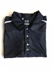 Adidas Mens Golf Black Polo Top Short Sleeve Tshirt Pure Motion Cool Size XL