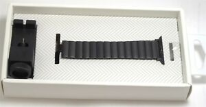 Platinum - Link Stainless Steel Band for Apple Watch 38mm/40mm - Black