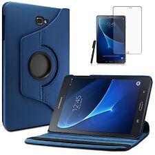 360°Rotation Samsung Galaxy Tab A 10.1 T580/T585 A6 Case +Pen+Folie Dunkelblau