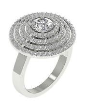 2.10 Ct 14K Gold Prong Set 19.20Mm Right Hand Round Ring Round Diamond I1 G