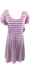 Columbia Striped Reel Beauty Purple & White Tee-Shirt Womens Small Dress New