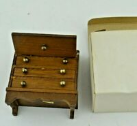 Wooden Vintage 1:16 Scale Furniture Doll House Taiwan Drawer Drop Down Cabinet