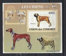 Art Postage Stamp SOUTH AFRICAN BOERBOEL DOG AZAWAKH AIDI Comores 2009 SSImp MNH