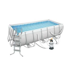 Bestway 56660 13ft Steel Pro Swimming Pool with 800gal Sand Filer Pump 4.04m x 2