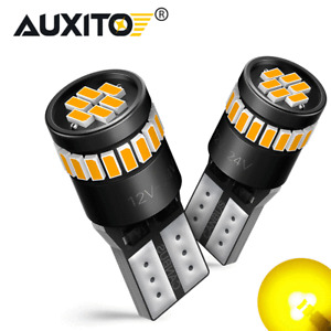 AUXITO Amber Yellow 168 194 921 License Side Marker Light Canbus LED Bulb