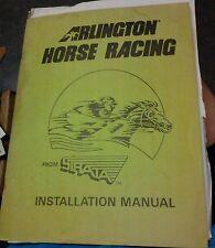 Strata ARLINGTON HORSE RACING Arcade Video Game Manual- laser disc game used