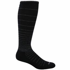 Sockwell Women's Socks Circulator Arch Support, Black Sparkle, M/L SW1W-902-ML