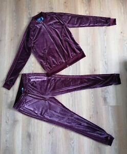Adidas Velvet Maroon Burgundy Tracksuit