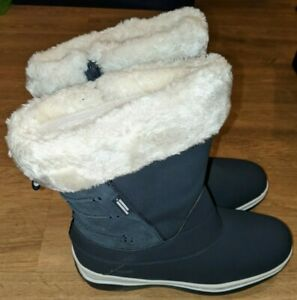 WOMENS SIZE 6 UK FLEECE LINED SNOWBOOTS LADIES SIZE 6 BOOTS