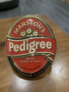 Marstons pedigree metal pump clip