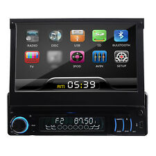 """Single 1 Din In dash 7""""Touch Screen Car Stereo Audio DVD Player Ipod Bluetooth"""