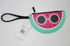 betsey johnson Coin Purse Watermelon Wristlet NEW NWT Green Pink Glasses