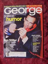 RARE GEORGE magazine August 1999 BEN STILLER Mary Bono Mariel Hemingway
