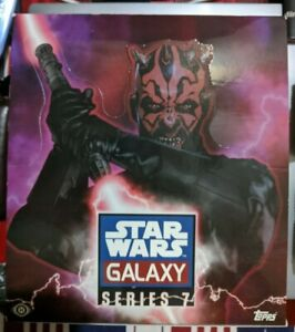 Topps Star Wars Galaxy Series 7 Hobby 24 Pack Box, 2012 --OPEN-- Poster included