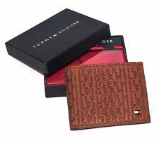 Men's Tommy Hilfiger Textured Leather Lite Brown Tan Pocket Wallet Cards