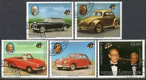 602 - Paraguay 1989 - Cars - The 40th Anniversary of the Germany - Used Set