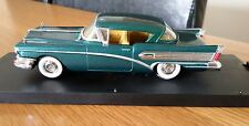 1:43 1958 Metallic Green Buick Roadmaster 2 Door Excellent Condition Rare Boxed