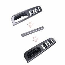 Fit VW Jetta Golf MK4 Passat B5 Window Switch Panel & Handle Trim Carbon Grain