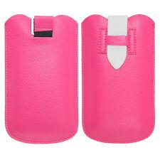 Handy Case Etui Schutz Tasche für Apple iPhone und Samsung Galaxy - Pink