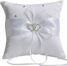 Ring Pillow Double Heart Rhinestone Ring Bearer Wedding Ceremony Supplies Us