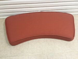 Frontgate Madison Outdoor Patio Loveseat Sofa Thick Cushion 63x26 Terracotta NEW