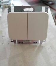 1 x interrupteur double va et vient 7026 NIKO PR20 crème(état neuf)