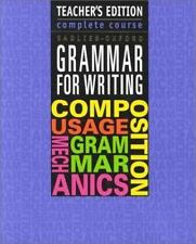 Grammar for Writing: Complete Course by Sadlier-Oxford, Teacher's Edition