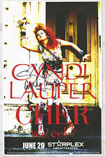 Cyndi Lauper autographed concert poster