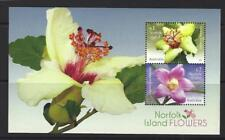 AUSTRALIA 2017 NORFOLK ISLAND FLOWERS MINIATURE SHEET UNMOUNTED MINT, MNH
