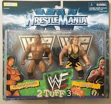WWE WWF Wrestling Figure 2 Pack THE ROCK & OWEN HART Jakks Pacific