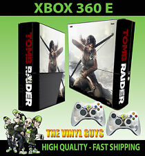 Xbox 360 E Lara Croft Tomb Raider Skin & 2 Controller Polster Hülle