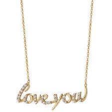 Collares y colgantes de joyería cadena de oro amarillo, con amor y corazones