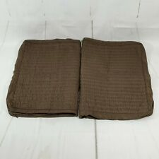 Hotel Collection 2 Standard Brown Geometric Quilted Gusset Pillow Shams Macys
