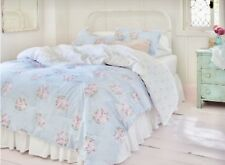 Simply Shabby Chic Bella Blue & Pink Floral 2Pc Twin Comforter Set ~ New!