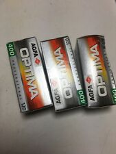 Lot Of 3 Rolls Of AGFA 400 OPTIMA Color Film Expired/refrigerated