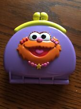 Elmo Zoe change purse Plastic Toy Purse REPLACEMENT Coin Wallet Sesame Street