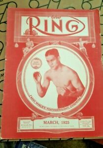 Vintage Original Ring Boxing Magazine. March 1925. Babe Herman Cover.