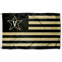 Vanderbilt University Commodores Stars and Stripes Nation USA Flag