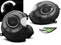 Coppia di Fari Anteriori MINI COOPER R55 R56 R57 R58 R59 2006-LED Light Tube Ne