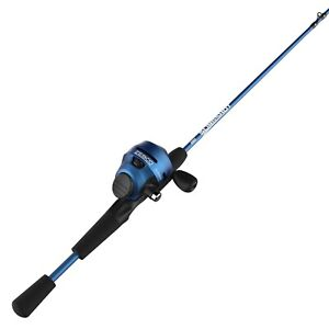 Zebco Slingshot Spincast Reel And Fishing Rod Combo With Dial-Adjustable Drag